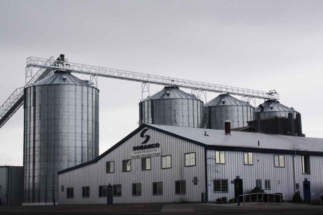 Steel Grain Bins at Soranco Bean