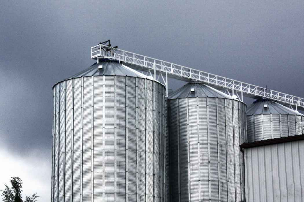 Twin Falls Grain Bins with Conveyor
